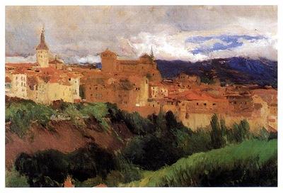 ls Sorolla 1906 Vista de Segovia