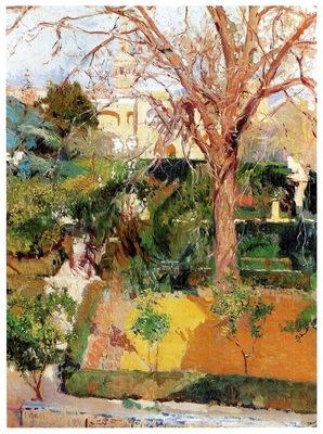 ls Sorolla 1908 Jardines del Alcazar de Sevilla