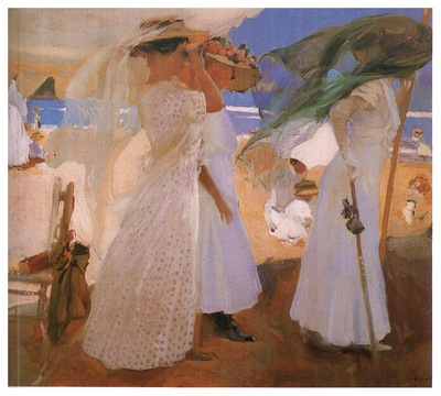 ls Sorolla 1910 Bajo el toldo Zarauz