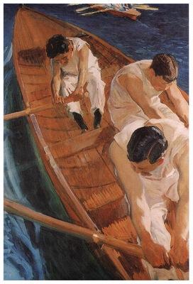 ls Sorolla 1910 En la yola Zarauz