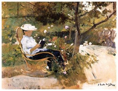ls Sorolla 1896 En el jardin
