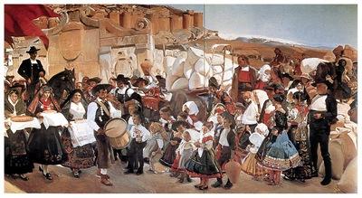 ls Sorolla 1913 La fiesta del pan Castilla