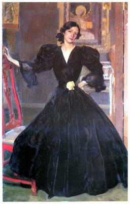ls Sorolla 1906 Clotilde con traje negro