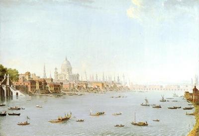 Joli Antonio The Thames Looking Towards The City