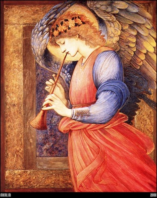 Burne Jones An Angel Playing A Flageolet 1878 mln