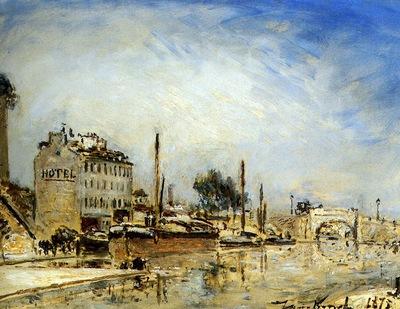 Jongkind J Le Canal St  Martin Paris Sun