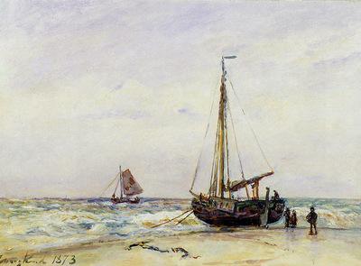 Jongkind Johan Au bord de la mer Sun