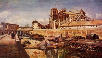 Jongkind Johan Berthold Notre Dame de Paris Seen from the Pont de L Archeveche