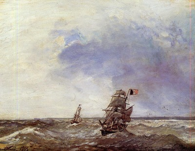 Jongkind Johan Berthold Ships at Sea