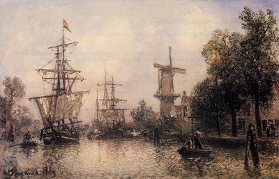 Jongkind Johan Berthold The Port of Rotterdam2