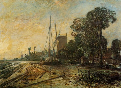 Jongkind Johan Berthold Windmill near the Water