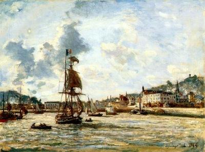jongkind entrance to the port of honfleur