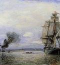 Jongkind Johan Berthold Leaving the Port of Honfleur
