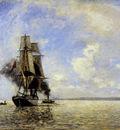Jongkind Johan Sortie du port Honfleur Sun