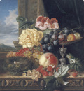 Still Life with Fruit Flowers and a Birds Nest