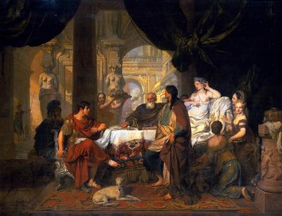 Lairesse Gerard Banquet of Cleopatra Sun