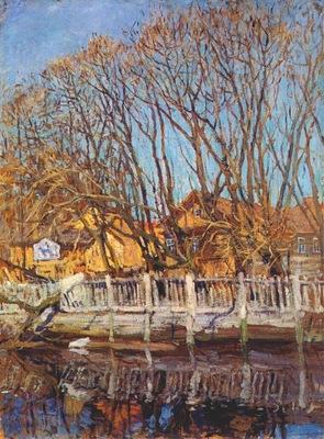 lakhovsky krestovsky island, spring