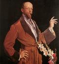 Lambert Self Portrait with Gladioli