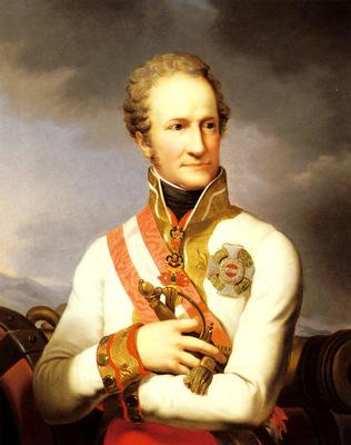 Lampi Johann Baptist A Portrait Of Johann II Von Liechtenstein