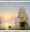 Lane Boston Harbor Sunset sj