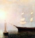 lane ship starlight in the fog