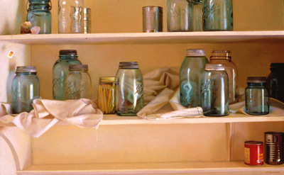 Larson Jeffrey 1998 Old Jars, New Light 20by38in