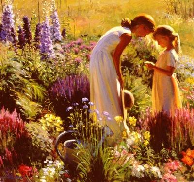 Larson Jeffrey 2000 Full Bloom 28by30in