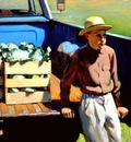 Larson Jeffrey 1996 Farmers Market 24by30in