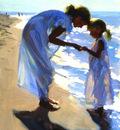 Larson Jeffrey 1999 Beach Treasures 12by16in