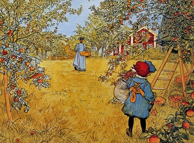 Carl Larsson Apple Orchard, De