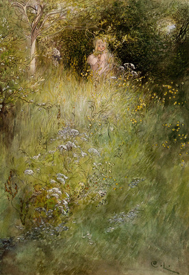 Larsson Carl A Fairy Or Kersti And A View Of A Meadow