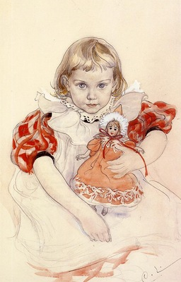Larsson Carl A Young Girl with a Doll