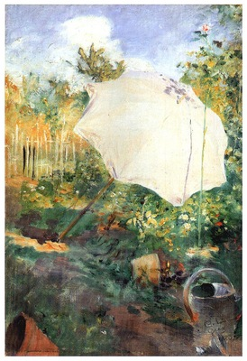ls Larsson 1883 Garden in Grez Sketch in oil
