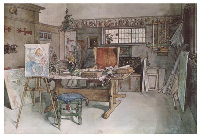 ls Larsson 1894 97 One Half on the Studio watercolor
