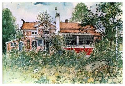 ls Larsson 1894 97 The cottage watercolor