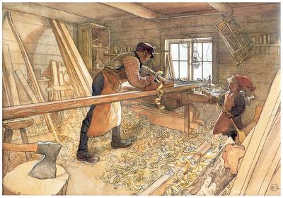 ls larsson2 43 el taller del carpintero 1904