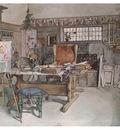 ls Larsson 1894 97 One Half on the Studio watercolor