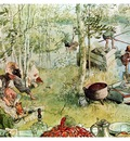 ls Larsson 1894 97 The Crayfish Season Opens watercolor