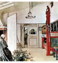ls Larsson 1894 97 The Other half of the Studio watercolor