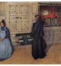 ls Larsson 1903 Mother and Daughter watercolor