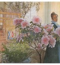 ls Larsson 1906 Azalea watercolor