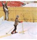 ls Larsson 1909 The Falun Yard watercolor