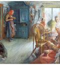 ls larsson2 11 interior campesino en invierno watercolor