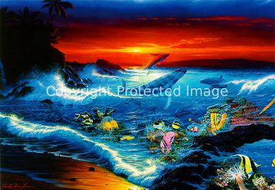 kb Lassen Greeting Cards Sea Vision