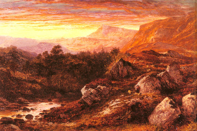 Leader Benjamin William The Valley Of The Lleder North Wales