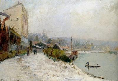 Lebourg Albert Le Seine au Bas Meudon Sun