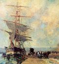 Lebourg Albert Ship in harbour Rouen Sun
