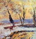 Lebourg Albert Snow at sunset Sun