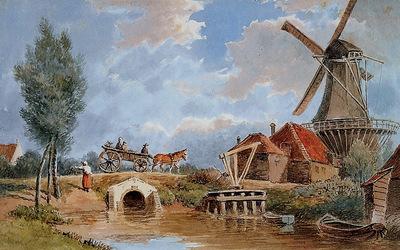 Lebret Frans Mill de oude Ruiter Sun
