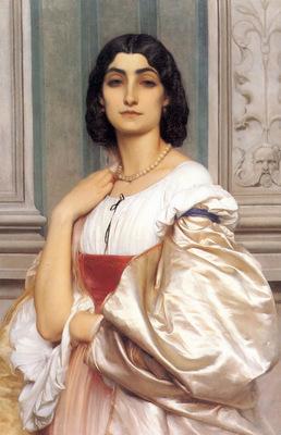 A Roman Lady La Nanna 1858 9 80x52cm